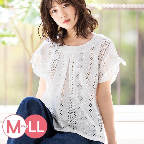 日本代購-portcros高雅鏤空繡花蕾絲綁結上衣M-LL(共三色) 日本代購,portcros,蕾絲