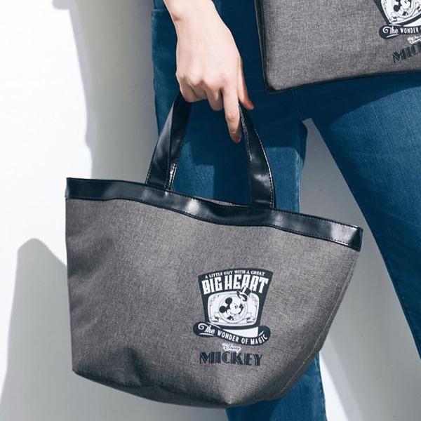 日本代購-迪士尼米奇圖案皮革滾邊大手提袋 日本空運,東區時尚,手提袋