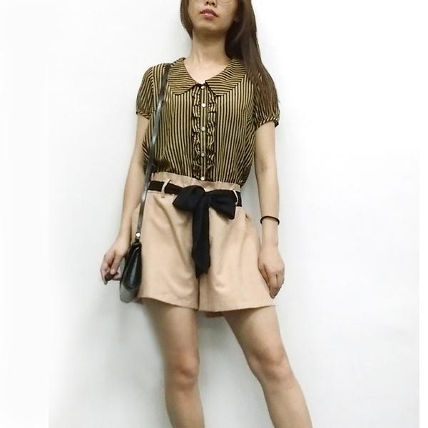 日本ANNA LUNA 現貨-顯瘦純綿直條紋連身褲 日本,ANNA LUNA,連身裙