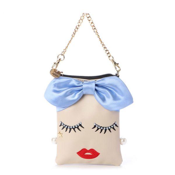 日本代購-頭巾女孩 2way 智能手機肩背包 日本代購,東區時尚,化妝包