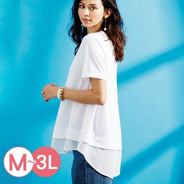 日本代購-portcros時尚A字形涼感拼接上衣M-LL(共四色) 日本代購,portcros,拼接