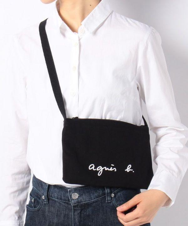 日本代購-agnes b. LOGO帆布包(男女小孩通用) agnes b.,東區時尚,帆布