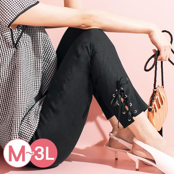 日本代購-下擺綁帶彈性緊身褲(M-LL) 日本代購,緊身褲