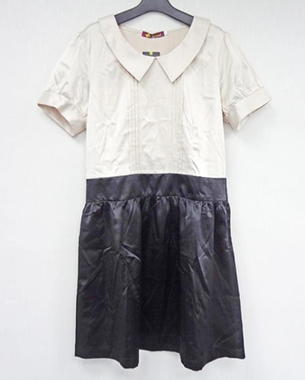 現貨-氣質優雅抓摺連身洋裝(共一色/L) 日本代購,現貨