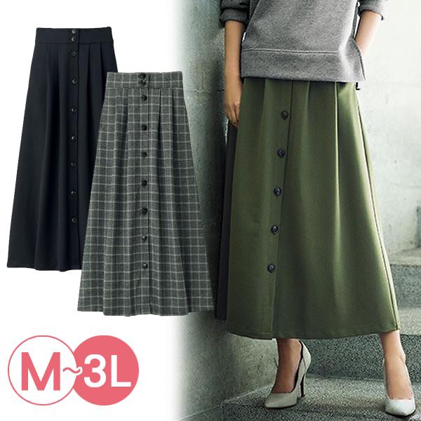日本代購-RyuRyu mall氣質排釦設計長裙(共三色/3L) 日本代購,RyuRyu mall,長裙