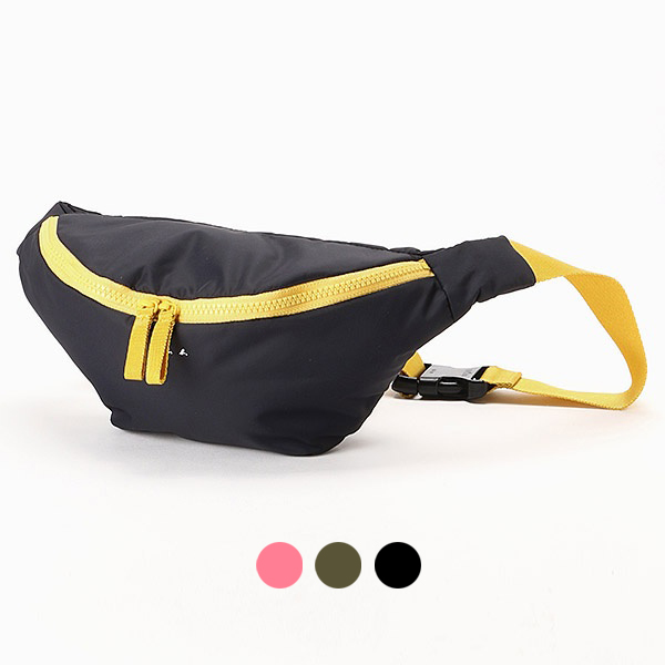 日本代購-agnes b. 時尚運動風配色斜背包腰包 agnes b.,東區時尚,腰包