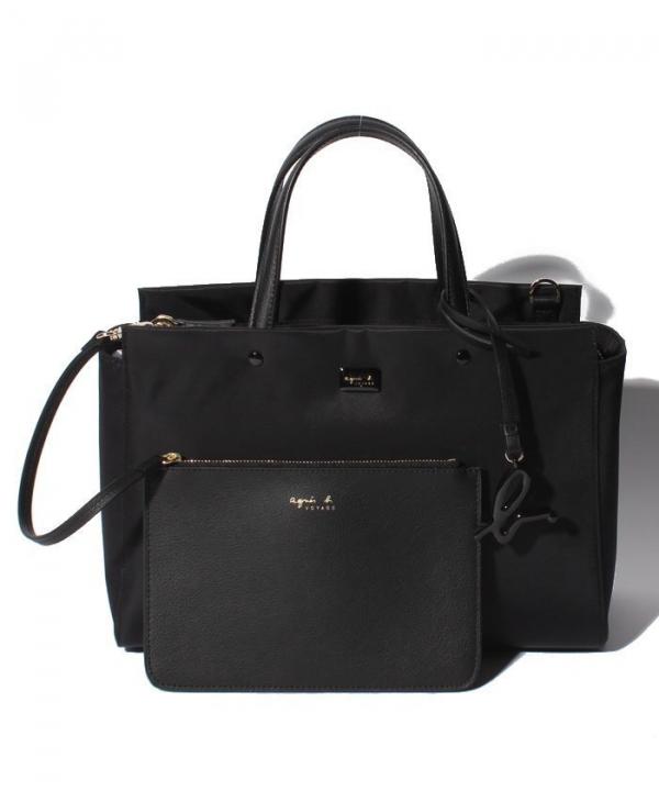 日本代購-特價agnes b. 附小包立體LOGO 2Way手提/肩背包(售價已折) agnes b.,東區時尚,托特包,肩背包