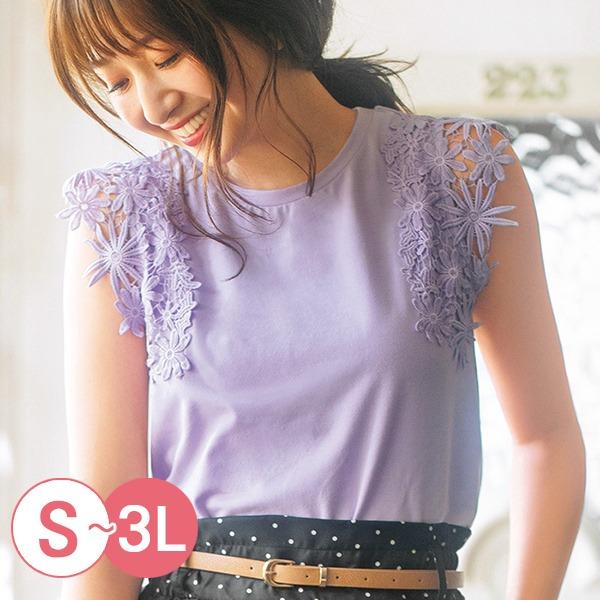 日本代購-portcros雅緻雕花蕾絲上衣S-LL(共四色) 日本代購,portcros,蕾絲