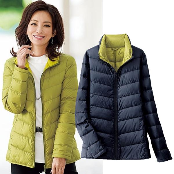 日本代購-portcros雙色羽絨外套附收納袋(3L-5L) 日本代購,portcros,羽絨