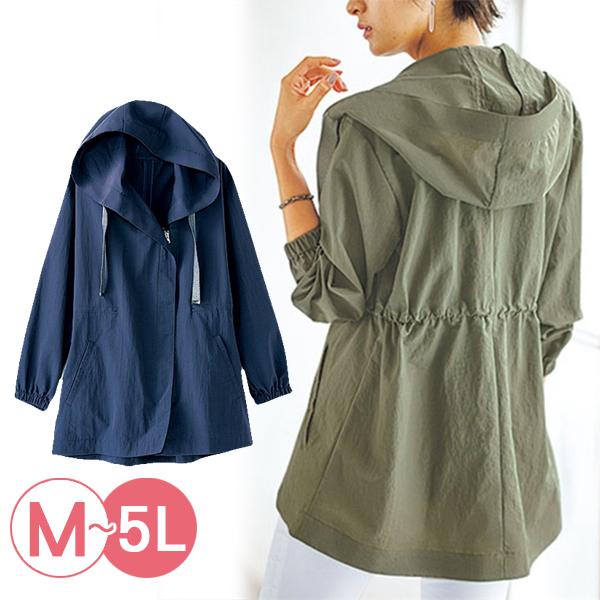 日本代購-portcros寬帶連帽收腰防水夾克(共二色/3L-5L) 日本代購,portcros,連帽
