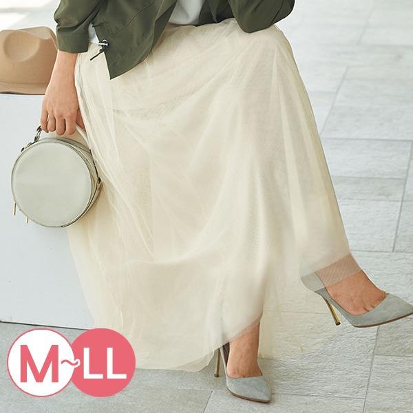 現貨-portcros雅緻鬆緊腰長紗裙(黑色/M) 日本代購,portcros,紗裙