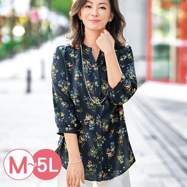 日本代購-portcros優雅垂墜感泡泡袖印花襯衫(共四色/M-LL) 日本代購,portcros,泡泡袖