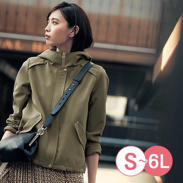 日本代購-內側印花折縫A字形連帽夾克(共三色/S-LL) 東區時尚,連帽