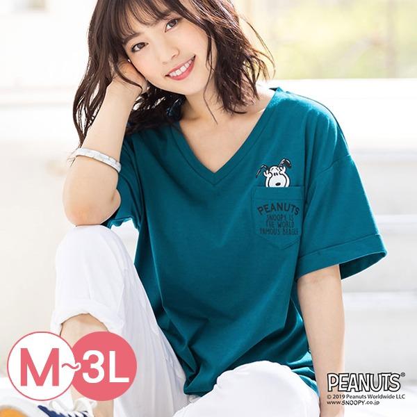 日本代購-portcros史努比口袋V領折邊袖T恤(共五色/M-LL) 日本代購,portcros,T恤