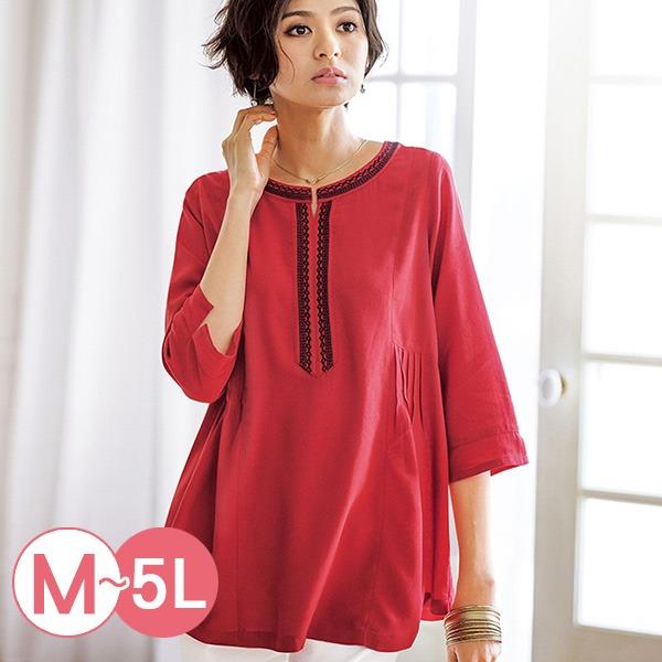 日本代購-portcros造型壓褶刺繡上衣M-LL(共五色) 日本代購,portcros,刺繡