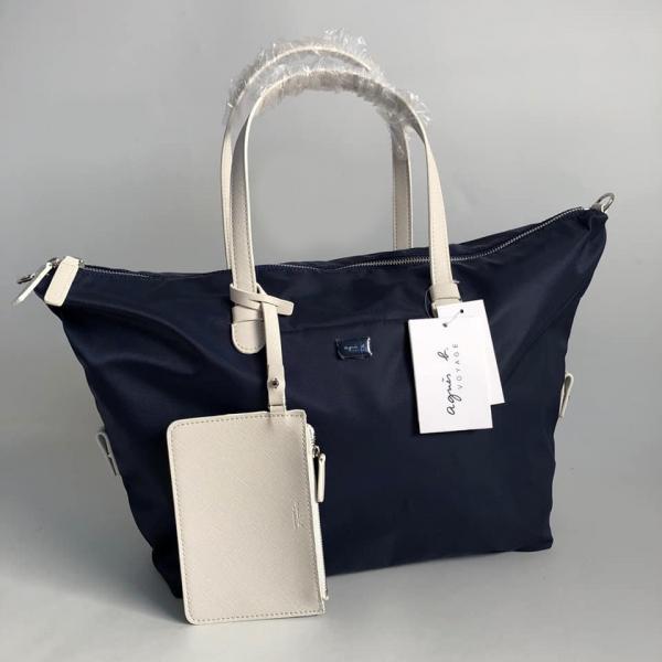 日本代購-agnes b.防潑水尼龍2way水餃包附小包 agnes b.,東區時尚,斜背包