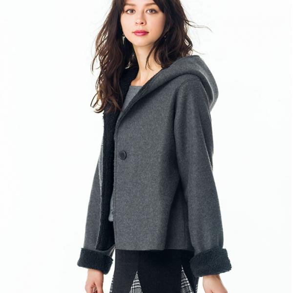 日本代購-portcros蓬鬆輕盈的連帽短外套M-LL 日本代購,portcros,外套