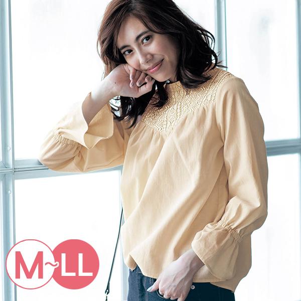 日本代購-古典蕾絲拼接喇叭袖上衣(M-LL) 東區時尚,蕾絲
