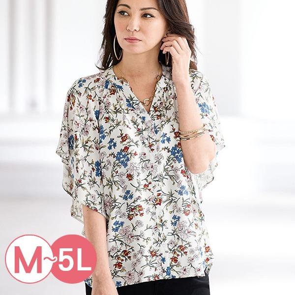 日本代購-portcros時尚造型寬袖印花襯衫M-LL(共三色) 日本代購,portcros,寬袖