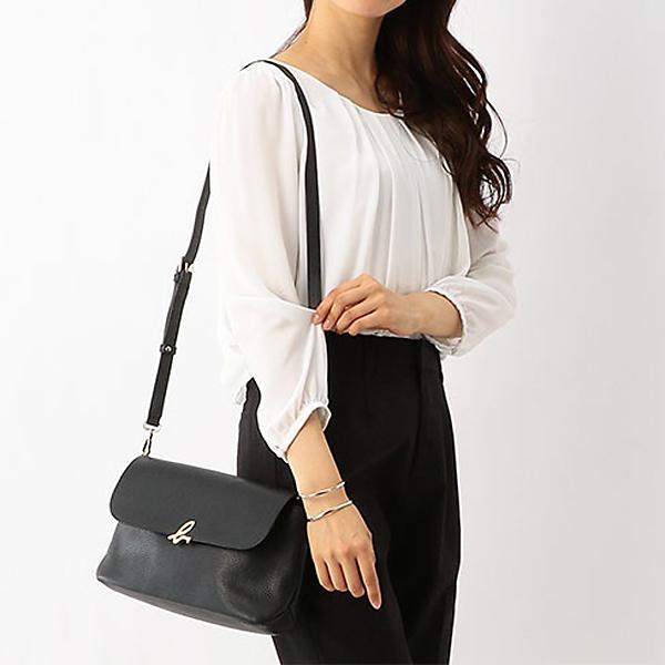 日本代購-agnes b. The b. 2way皮革手拿包單肩包-中 agnes b.,東區時尚,斜背包