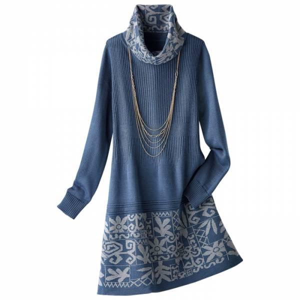 日本代購-特價portcros高翻領提花高質感針織長版衫M-LL(售價已折) 日本代購,portcros,長版衫