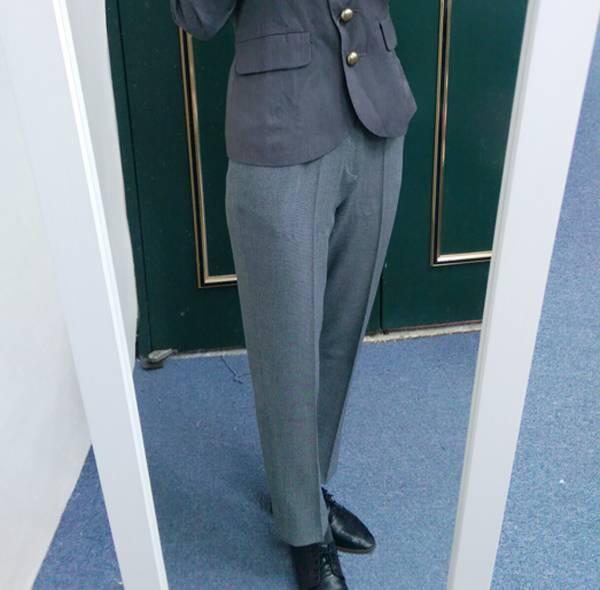 日本現貨-cecile 質感附隱藏口袋西裝長褲(鐵灰色/M) 日本代購,cecile