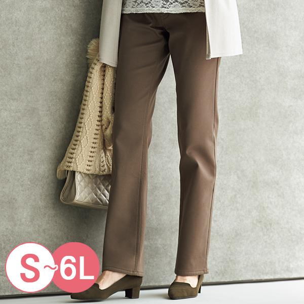 日本代購-cecile棉質斜紋布內面搖粒絨直筒褲(共三色/S-LL) 日本代購,CECILE,直筒褲