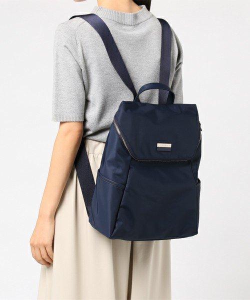 日本代購-agnes b.皮革提把雙色LOGO中性款後背包附小包(大) agnes b.,東區時尚,後背包