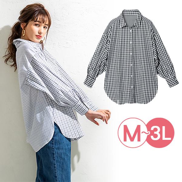 日本代購-portcros時尚剪接設計落肩袖襯衫(共三色/M-LL) 日本代購,portcros,襯衫