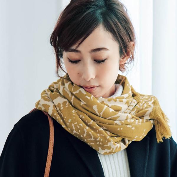 日本代購-SOU·SOU雙面提花編織流蘇披肩圍巾(共四色) 東區時尚,圍巾