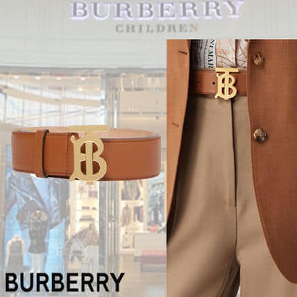 超值代購-BURBERRY TB字母LOGO兩面雙用皮革腰帶(售價已折) BURBERRY,腰帶