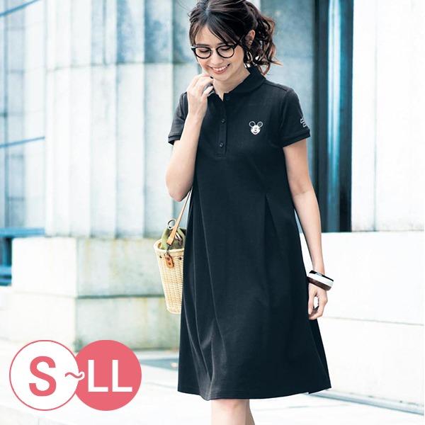 日本代購-迪士尼米奇唐老鴨A字形polo洋裝(共二色/S-LL) 日本空運,東區時尚,洋裝