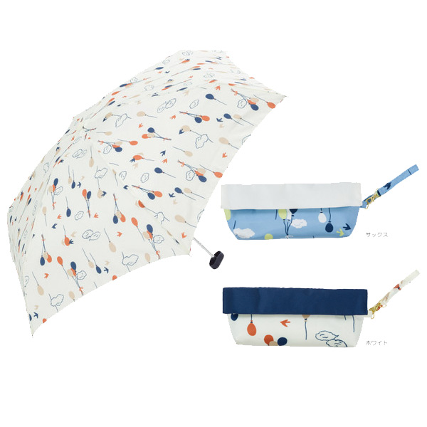 日本代購-現貨日本品牌because 好收納輕巧晴雨兩用摺疊傘(附傘袋) 東區時尚,because,晴雨兩用傘,抗UV98%
