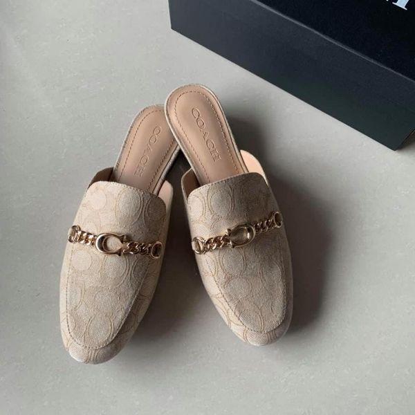 特價COACH牛皮樂福半拖鞋(售價已折) 日本代購,COACH,半拖鞋