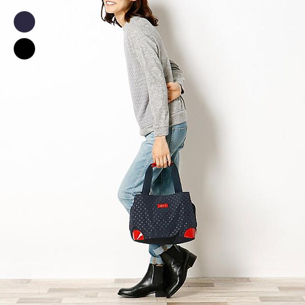 日本代購-agnes b. Voyage 2way圓點大開口提包-小 agnes b.,東區時尚,手提包