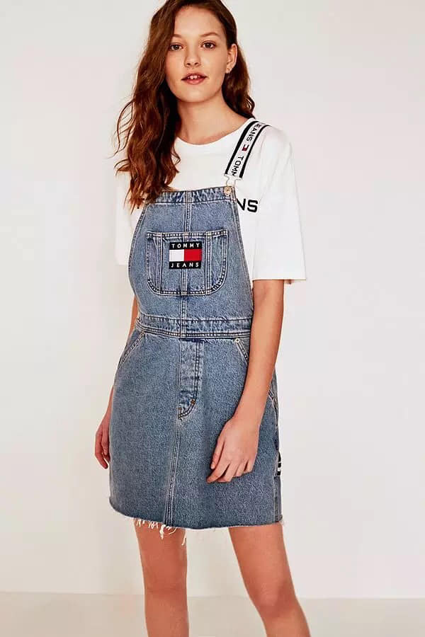現貨特價TommyJeans 經典LOGO刺繡牛仔背心裙(售價已折) TommyJeans,背心裙