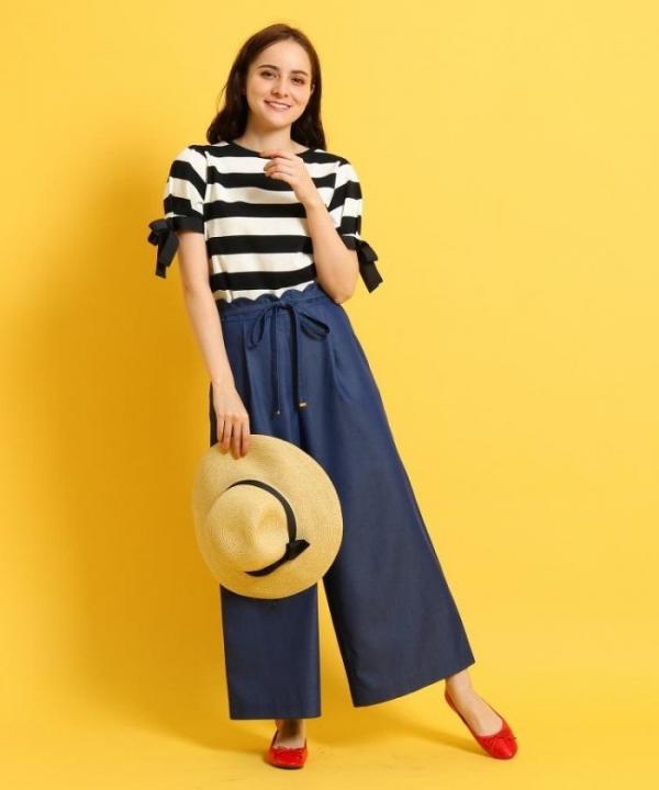 日本代購-Couture Brooch腰間花邊綁帶寬褲(售價已折) 日本代購,Couture Brooch,花邊,綁帶,寬褲