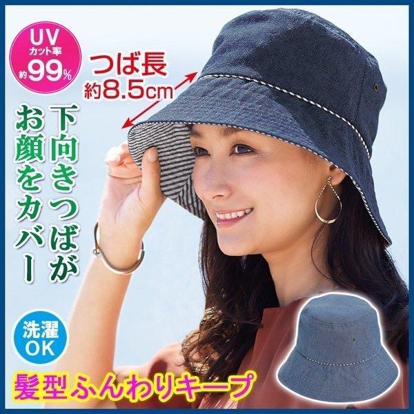 日本代購-現貨日本Cogit 抗UV 丹寧遮陽帽  日本空運,東區時尚,防曬貝蕾帽