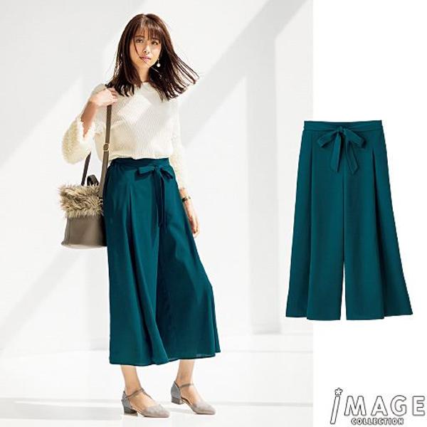 日本代購-特價附腰帶女人味十足設計感垂墜寬鬆寬褲S-LL(售價已折) 日本空運,東區時尚,長褲