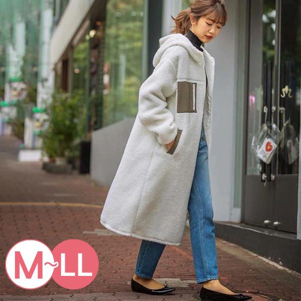 日本代購-配色口袋可愛絨毛連帽外套(共二色/M-LL) 日本代購,配色,連帽