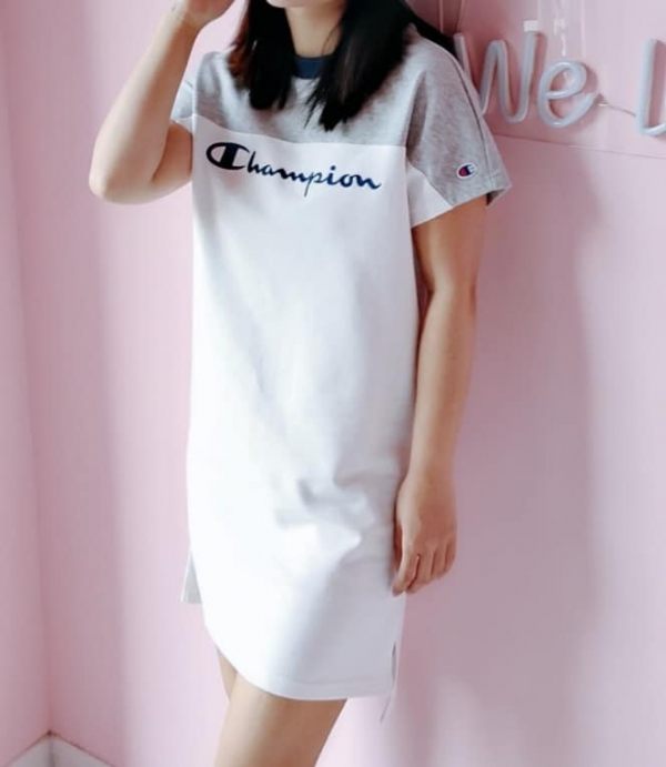超值代購-Champion刺繡LOGO撞色連身裙 日本代購,Champion,連身裙