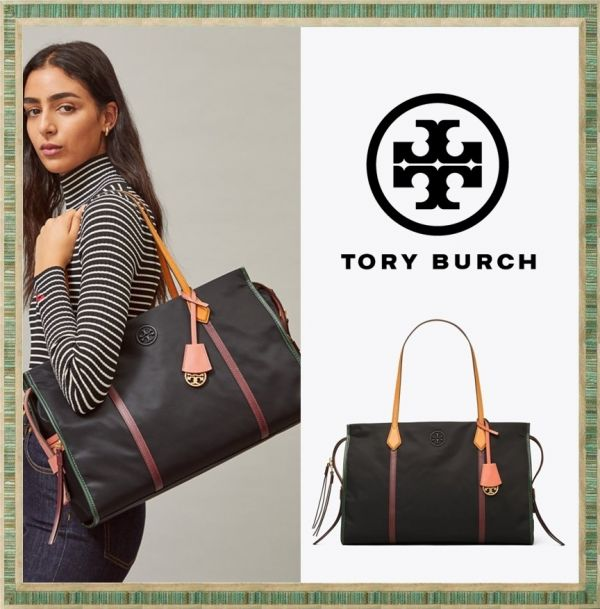 日本代購-Tory Burch 附金屬LOGO吊飾大手提包 agnes b.,東區時尚,TB包