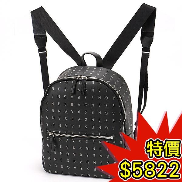 日本代購-agnes b.VOYAGE 時尚logo印花拉鏈後背包(共二色) agnes b.,東區時尚,後背包