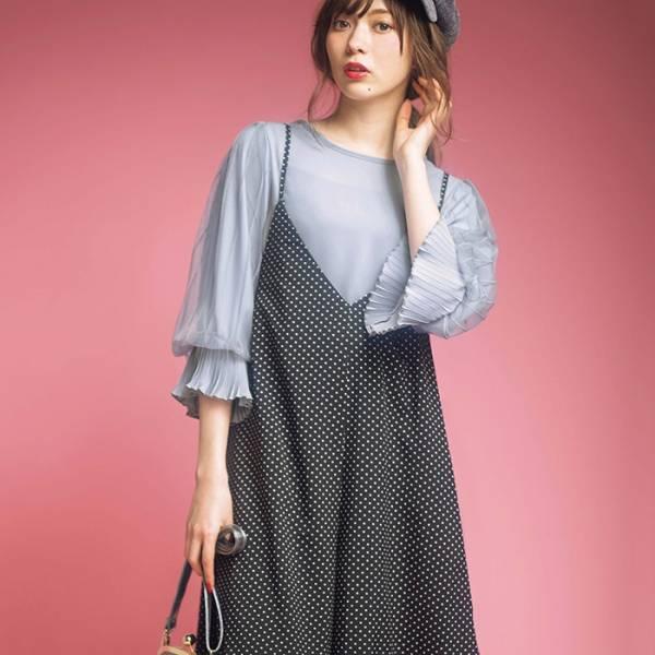 日本代購-特價portcros後交叉綁結背心裙S-LL(售價已折) 日本代購,portcros,背心裙