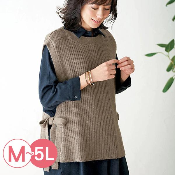 日本代購-側邊綁結羅紋針織背心(共二色/M-LL) 日本代購,針織,背心