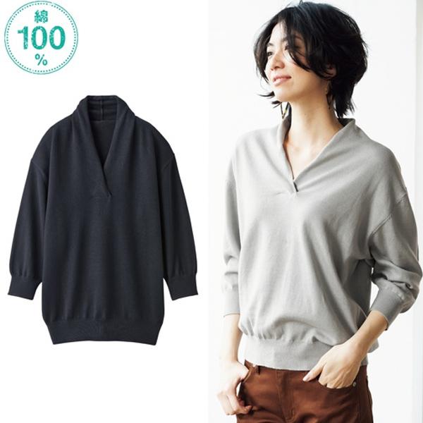 日本代購-特價不規則感V領針織衫3L(售價已折) 日本空運,東區時尚,針織衫