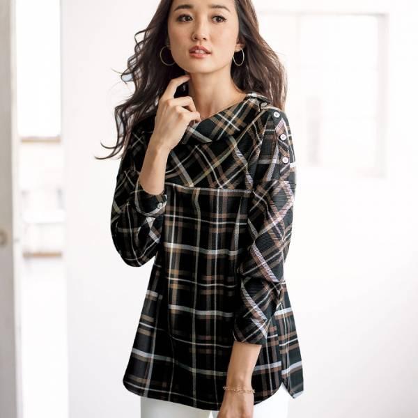 日本代購-portcros復古風翻領格紋上衣(共四色/M-LL) 日本代購,portcros,上衣
