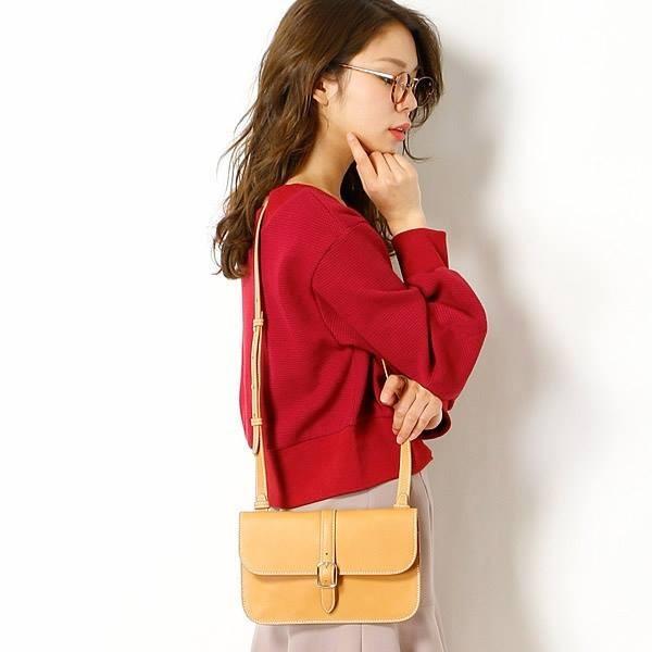 日本代購-agnes b. 牛皮釦環肩背/手提包(小)(售價已折) agnes b.,日本代購,手提