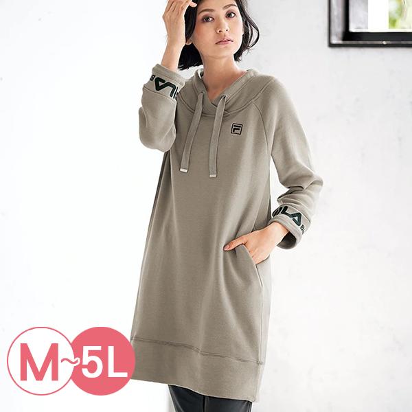 日本代購-FILA造型領長版內毛絨上衣(共三色/M-LL) 日本代購,長版,毛絨
