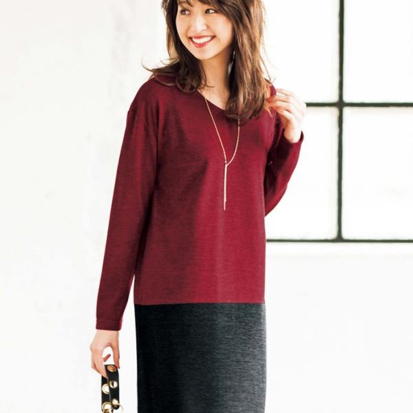 日本代購-特價portcros撞色針織連身裙S-3L(售價已折) 日本代購,portcros,連身裙